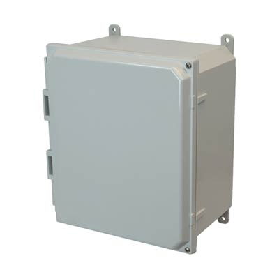 Allied Moulded AMP1206H NEMA 4X Polycarbonate Enclosure