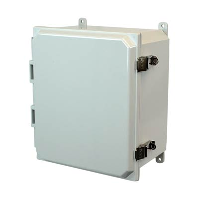 Allied Moulded AMP1206L NEMA 4X Polycarbonate Enclosure