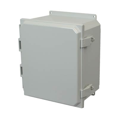Allied Moulded AMP1206NLF NEMA 4X Polycarbonate Enclosure