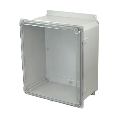 Allied Moulded AMP1648CCHF NEMA 4X Polycarbonate Enclosure