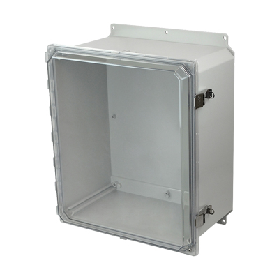 Allied Moulded AMP1648CCLF NEMA 4X Polycarbonate Enclosure