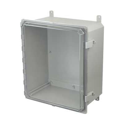 Allied Moulded AMP1648CCNL NEMA 4X Polycarbonate Enclosure