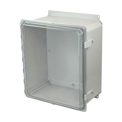 Allied Moulded AMP1648CCNLF NEMA 4X Polycarbonate Enclosure
