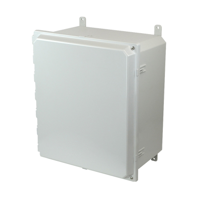 Allied Moulded AMP1648H NEMA 4X Polycarbonate Enclosure