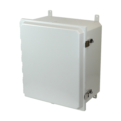 Allied Moulded AMP1648L NEMA 4X Polycarbonate Enclosure