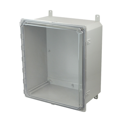 Allied Moulded AMP1860CCH NEMA 4X Polycarbonate Enclosure