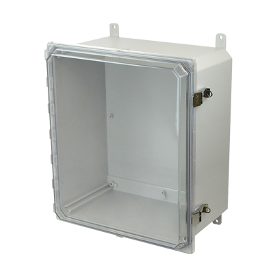 Allied Moulded AMP1860CCL NEMA 4X Polycarbonate Enclosure
