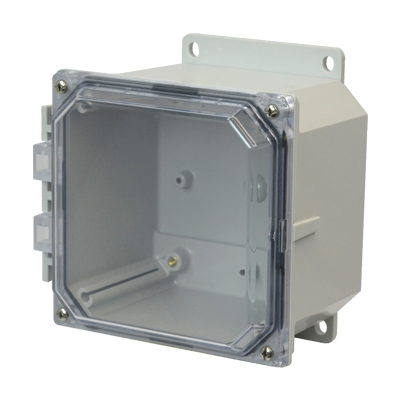 Allied AMP664CCF NEMA 4X & 6P Polycarbonate Enclosure