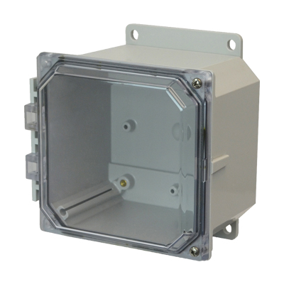 Allied Moulded AMP664CCHF NEMA 4X Polycarbonate Enclosure