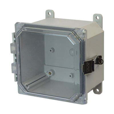 Allied Moulded AMP664CCL NEMA 4X Polycarbonate Enclosure
