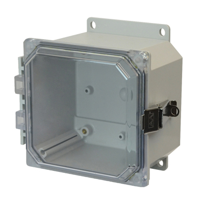 Allied Moulded AMP664CCLF NEMA 4X Polycarbonate Enclosure