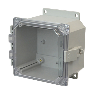 Allied Moulded AMP664CCNLF NEMA 4X Polycarbonate Enclosure