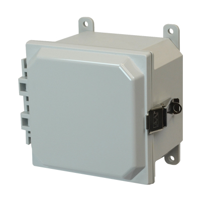 Allied Moulded AMP664L NEMA 4X Polycarbonate Enclosure