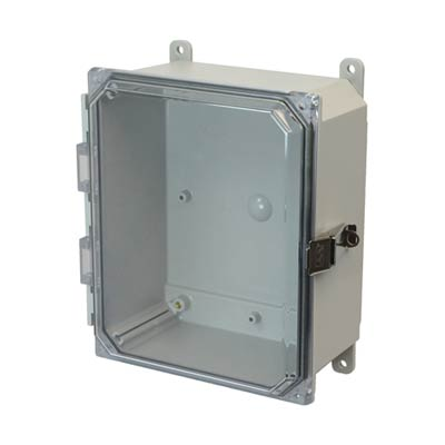 Allied Moulded AMP864CCL NEMA 4X Polycarbonate Enclosure