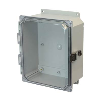 Allied Moulded AMP864CCLF NEMA 4X Polycarbonate Enclosure