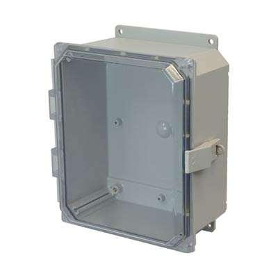 Allied Moulded AMP864CCNLF NEMA 4X Polycarbonate Enclosure