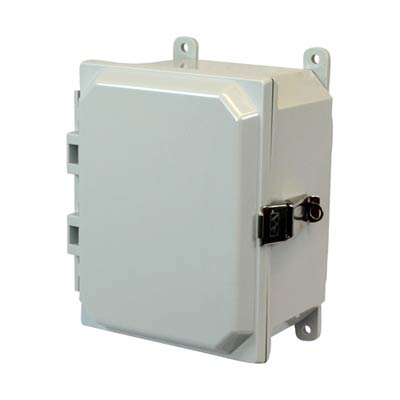 Allied Moulded AMP864L NEMA 4X Polycarbonate Enclosure