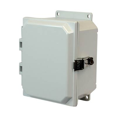 Allied Moulded AMP864LF NEMA 4X Polycarbonate Enclosure