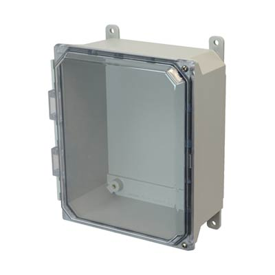Allied Moulded AMU1084CCH NEMA 4X Fiberglass Enclosure