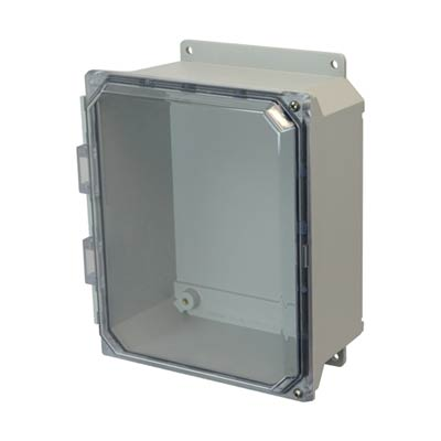 Allied Moulded AMU1084CCHF NEMA 4X Fiberglass Enclosure