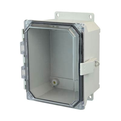 Allied Moulded AMU1084CCNLF NEMA 4X Fiberglass Enclosure