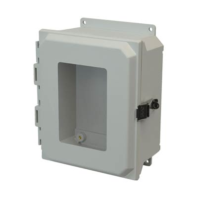 Allied Moulded AMU1084LWF NEMA 4X Fiberglass Enclosure