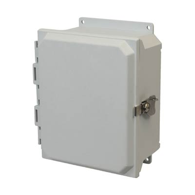 Allied Moulded AMU1084TF NEMA 4X Fiberglass Enclosure