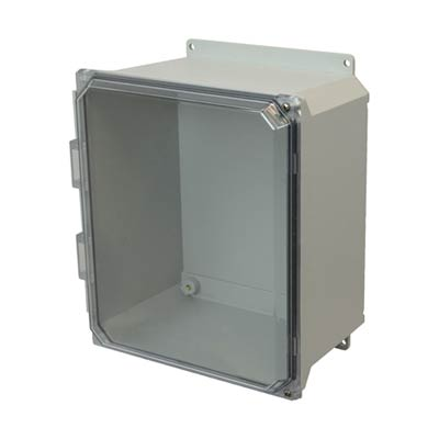 Allied Moulded AMU1206CCHF NEMA 4X Fiberglass Enclosure