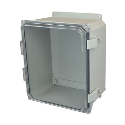 Allied Moulded AMU1206CCNLF NEMA 4X Fiberglass Enclosure