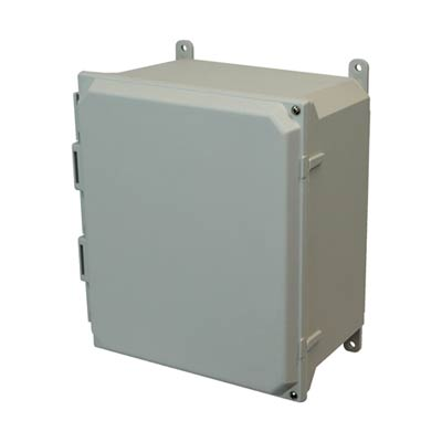 Allied Moulded AMU1206H NEMA 4X Fiberglass Enclosure