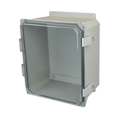 Allied Moulded AMU1648CCNLF NEMA 4X Fiberglass Enclosure