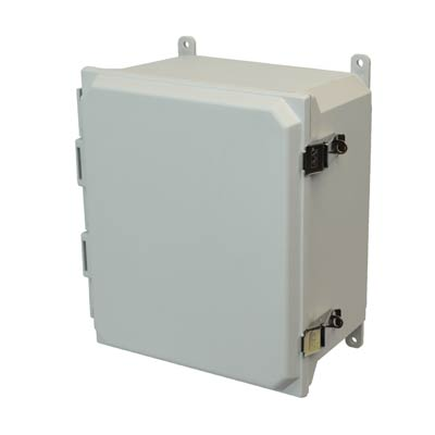 Allied Moulded AMU1648L NEMA 4X Fiberglass Enclosure