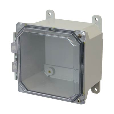 Allied Moulded AMU664CCH NEMA 4X Fiberglass Enclosure