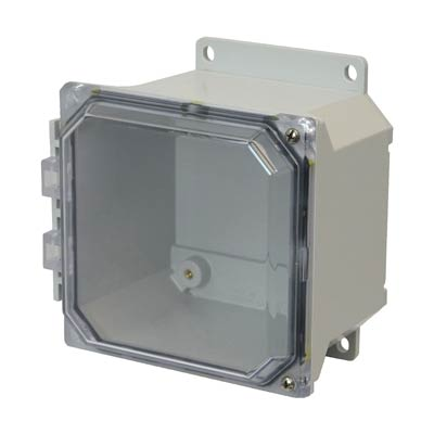 Allied Moulded AMU664CCHF NEMA 4X Fiberglass Enclosure