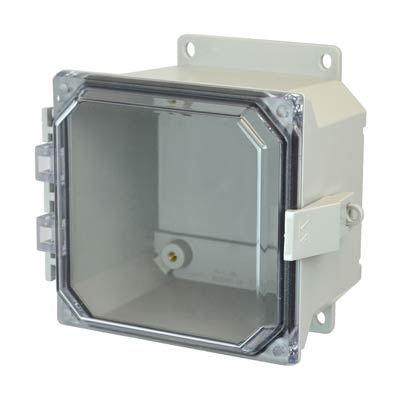 Allied Moulded AMU664CCNLF NEMA 4X Fiberglass Enclosure