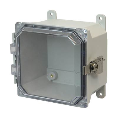Allied Moulded AMU664CCT NEMA 4X Fiberglass Enclosure