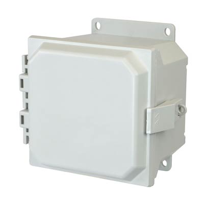 Allied Moulded AMU664NLF NEMA 4X Fiberglass Enclosure