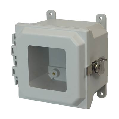 Allied Moulded AMU664TW NEMA 4X Fiberglass Enclosure