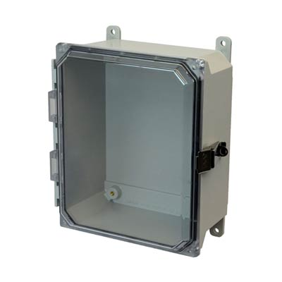 Allied Moulded AMU864CCL NEMA 4X Fiberglass Enclosure