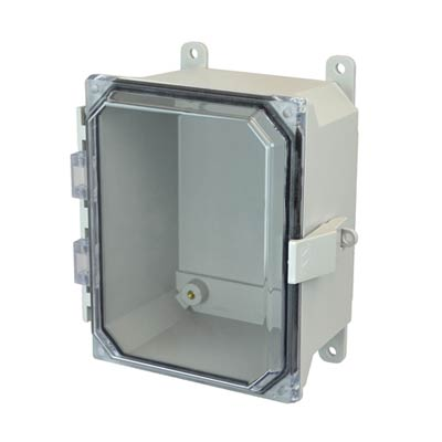 Allied Moulded AMU864CCNL NEMA 4X Fiberglass Enclosure