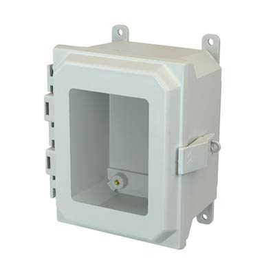 Allied Moulded AMU864NLW NEMA 4X Fiberglass Enclosure