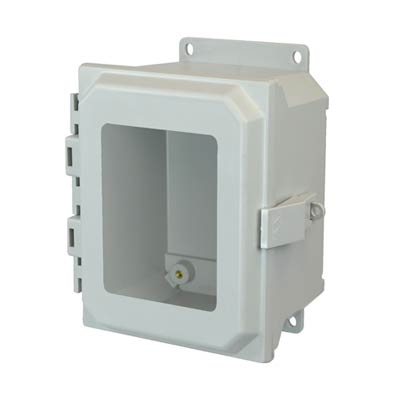 Allied Moulded AMU864NLWF NEMA 4X Fiberglass Enclosure