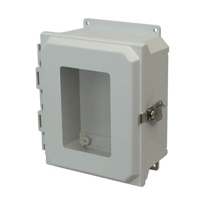 Allied Moulded AMU864TWF NEMA 4X Fiberglass Enclosure