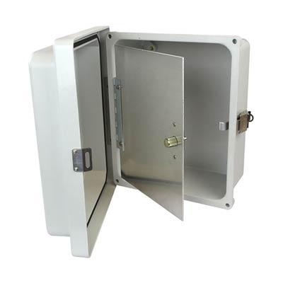 Aluminum Hinged Front Panel for 10x8 Enclosures | HFP108