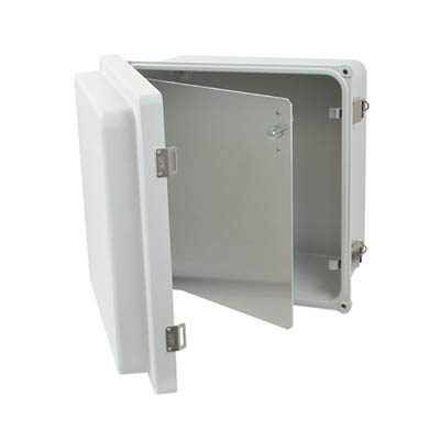 Aluminum Hinged Front Panel for 12x12 Enclosures | HFP122