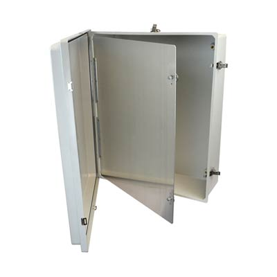Aluminum Hinged Front Panel for 24x24 Enclosures | HFP2424