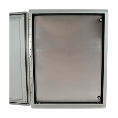 Aluminum Hinged Front Panel for 40x32 Enclosures | HFP4032