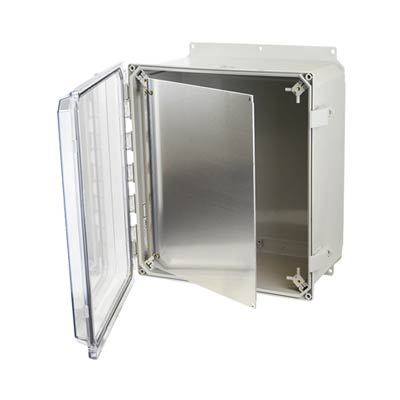 Aluminum Hinged Front Panel for 16x14 Enclosures | HFPP164