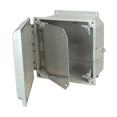 Aluminum Hinged Front Panel for 8x8 Enclosures | HFPP88