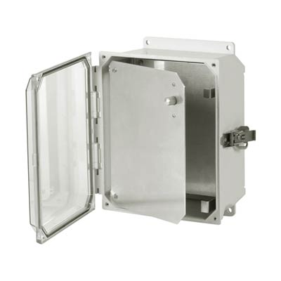 Aluminum Hinged Front Panel for 10x8 Enclosures | HFPU108